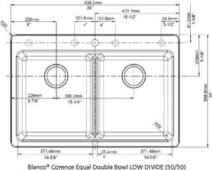 BLANCO CORENCE EQUAL DB (50 50) LOW IMAGE WHITE
